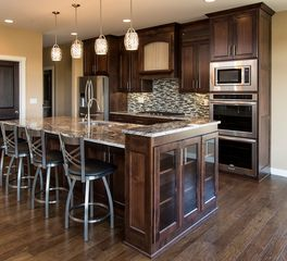 bayer interior woods Traditional Kitchen Cabinets