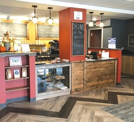 Bergland and cram Beans on Butler Coffee Shop service counter design