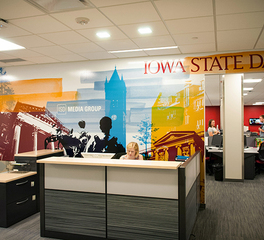 bergland + cram kingland corporation campustown iowa state university reception desk
