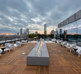 Bison Innovative Products 345 Harrison Rooftop Patio with Fireplace Design