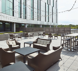 Bison Innovative Products Cerner Three Trail Campus Rooftop Patio Design