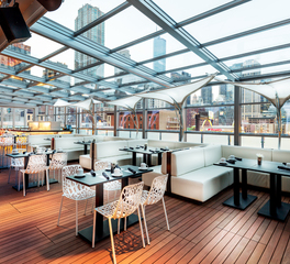 Bison Innovative Products The Godfrey Hotel Inclosed Rooftop Patio Design