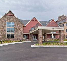 CBS Construction Services Inc. Founders Ridge Senior Living Bloomington Minnesota Porte Cochere Main Entrance