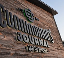Centennial Woods Restaurant Design Cunningham's Journal on The Lake Tap and Kitchen Sign