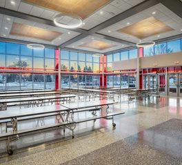 CentralCass HighSchool Cafeteria SoundPly Alta Acoustic Ceiling Panels 3600px