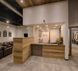 CHA Architecture and Construction Kemmet Dental Office Design Reception and Lobby