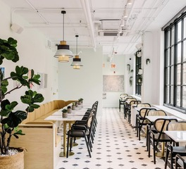 concrete collaborative restaurant flooring