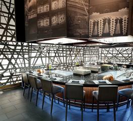 Cuningham Group Marimoto at MGM Grand Teppan Grill Ceiling Art