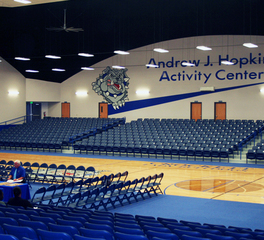 Custom Construction and Design Andrew J. Hopkins Dome Activity Center Safe House Basketball Court Crockett Texas