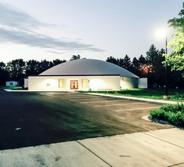 Custom Construction and Design Kasson Public Library Exterior Evening