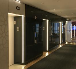 dado lighting liftline elevator bank