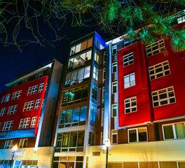 Dern Architecture and Development Lyric Multi Use Building Exterior Lighting Design