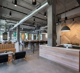 Dern Architecture and Development Stem Salon Reception Area Design