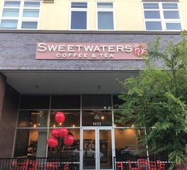 Dern Architecture and Development Sweetwaters Coffee and Tea exterior signage design