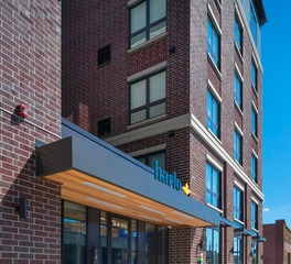 DJR Architecture Harlo Apartments Minneapolis Minnesota Front Facade Entrance