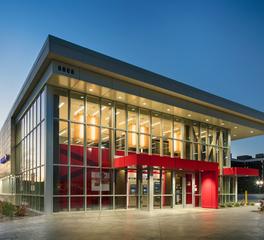 djr architecture inc bank of america evening night exterior
