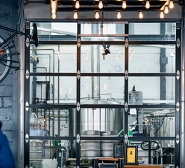 DJR Architecture Insight Brewing Taproom Minneapolis Minnesota Interior Overhead Door