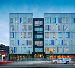 DJR Architecture Modi Apartments Minneapolis Minnesota Front Facade