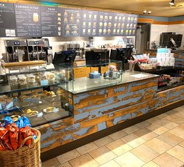 Dras Cases Caribou Coffee Service Counter Design