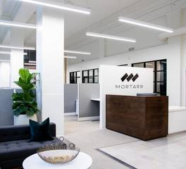 Dras cases mortarr headquarters reception desk design
