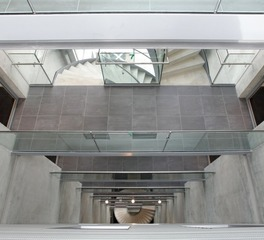 Eestairs Rotterdams Port City Building interior balustrade concrete 2