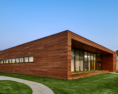 Mataverde Decking and Siding was chosen by INVISION Architecture to be used on the Buchanan County Health Center