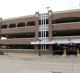 Gage Brothers Heritage Parking Ramp Exterior