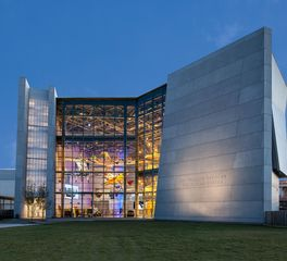 Gate Precast National War II Museum US Freedom Pavilion The Boeing Center Precast Glass Window Facade Design