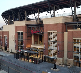 Gate Precast Truist Park Atlanta Braves Baseball Stadium Exterior Entrance and Bleacher Awning Design