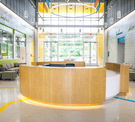 Gator Millworks EBR Career Center Lobby Reception Desk