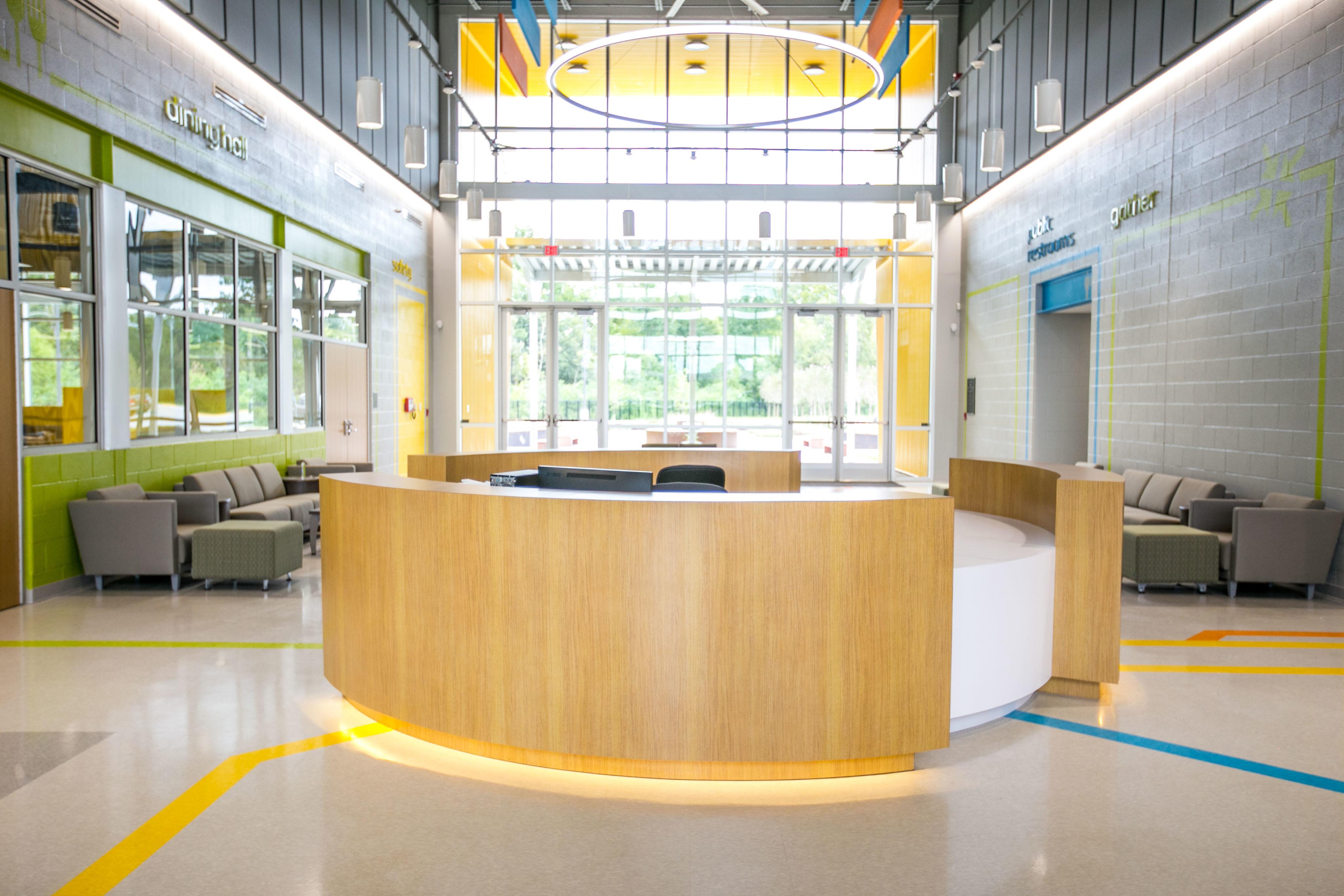 Gator Millworks EBR Career Center Lobby Reception Desk