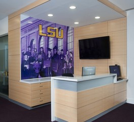 Gator Millworks LSU Cox Center Lobby Reception Desk
