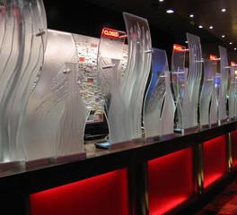 GlassArt Casino Descriptive Glass Restaurant Partitions