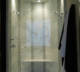 GlassArt Design Glass Modern Shower Door