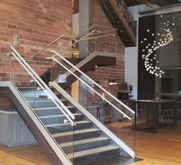 GlassArt Design Media Loft Frameless Glass Staircase Panels