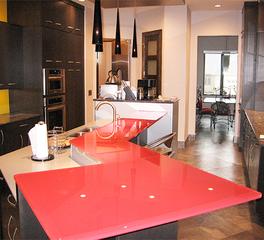 GlassArt Glass Kitchen Countertop Design