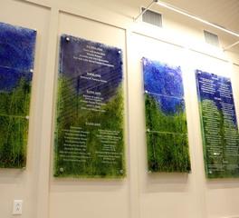 Grt glass design commemorative plaque 2