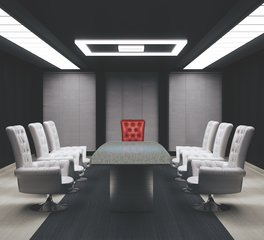 Hanex Solid Surface Conference Room Lighting Seating and Table