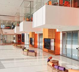 Haworth Clemson Watt Family Innovation Center Orange Collaborative Lobby Design Atrium Design