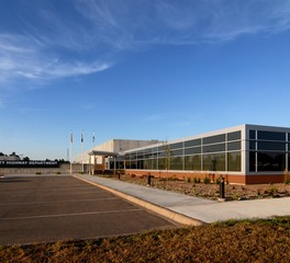 HCM Architects Anoka County Highway Department Andover Minnesota Main Entrance Side Exterior