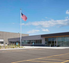HCM Architects Wright County Highway Department Exterior Office Building Hagen, Christensen, & McIlwain Architects