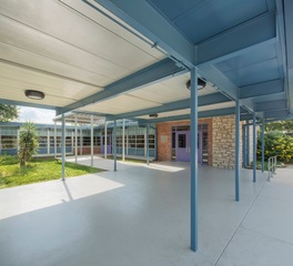 Heimsath Architects Andrews Elementary School Design New Front Entry Courtyard