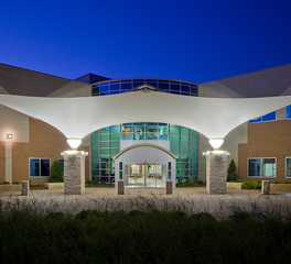 Hillcrest Baptist Medical Center Structurflex Waco Texas USA Entrance Canopy