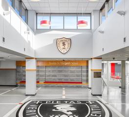 inunison design benilde st margaret addition School Entryway