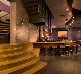 inunison design Five Restaurant + Street Lounge bar area