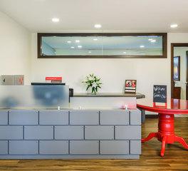 inunison design gildas club Twin Cities reception desk