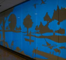 InVision Glass Design University of Minnesota Children's Hospital Floor Feature Walls