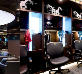 Jaguars locker room Digilock Mortarr project
