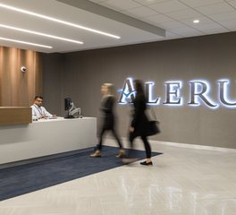 JTH Lighting Alliance Alerus Financial Lobby Lighting Minneapolis Minnesota