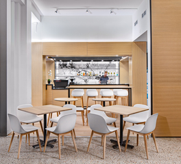 JTH Lighting Alliance St. Kilda Cafe & Bakery Des Moines Iowa Restaurant Interior Designs